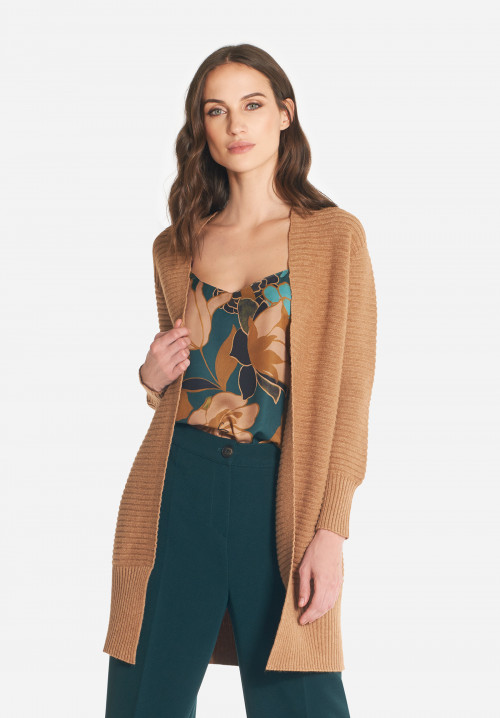 Liberty wool-blend oversize cardigan