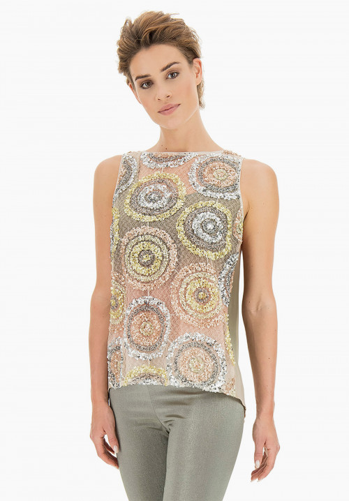 Paradise Shaded paillettes Top