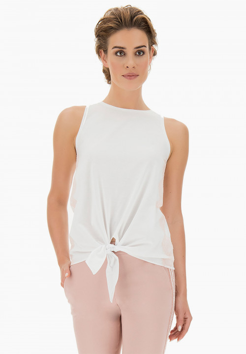 Peonia lace Wide-shouldered t-shirt